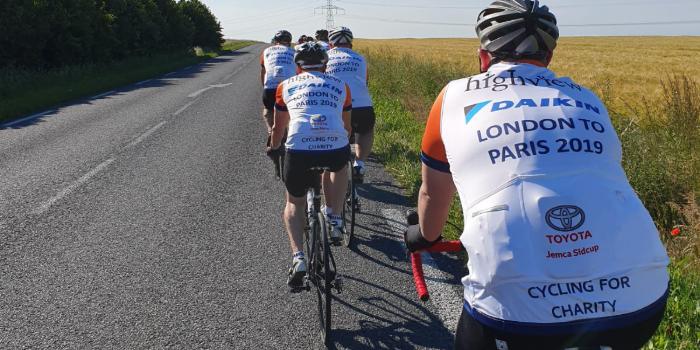 Ergro London to Paris Bike Ride – Arriving in Paris June 15th